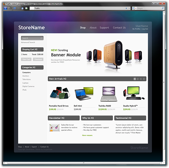 Traffic - a Drupal e-commerce theme