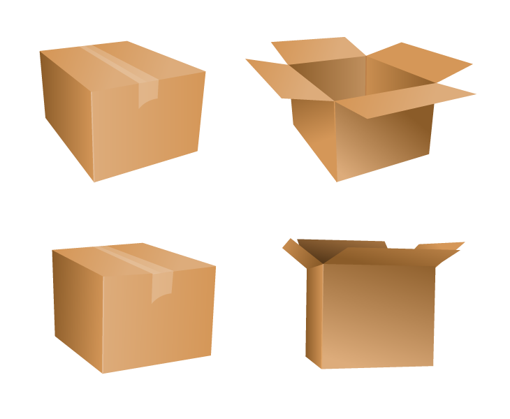 Free Vector Cardboard Box Icons | Drupal Style