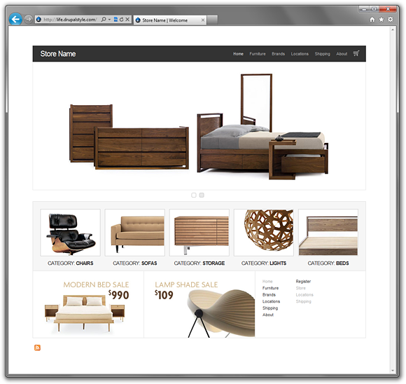 Life eCommerce - A Free, Clean Drupal 6 Ubercart Theme | Drupal Style